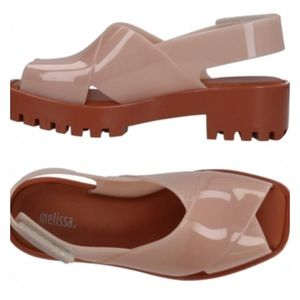 Melissa Blush/Brown PVC Lug Sole Sandals